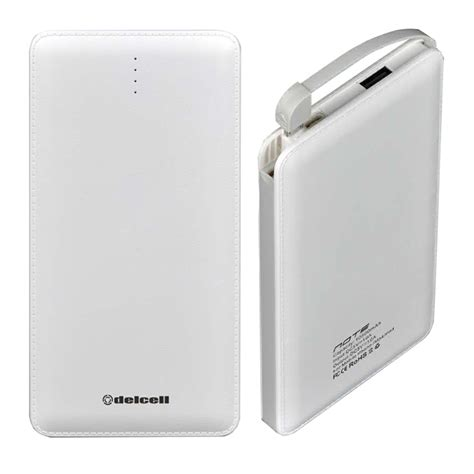 Delcell Power Bank Eco Polymer Battery Real Capacity 10000 Mah Colour delcell note powerbank slim 10500mah real capacity polymer battery elevenia