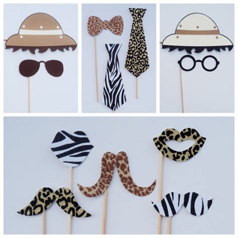 animal print photo booth props google search wild safari photo booth props animal print party decor jungle