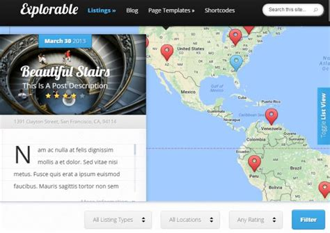 themes wordpress location elegant themes explorable review is it good
