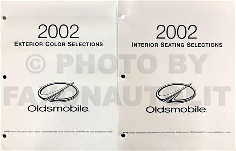 car repair manuals download 2002 oldsmobile bravada interior lighting 2002 trailblazer envoy bravada repair shop manual original 2 volume set