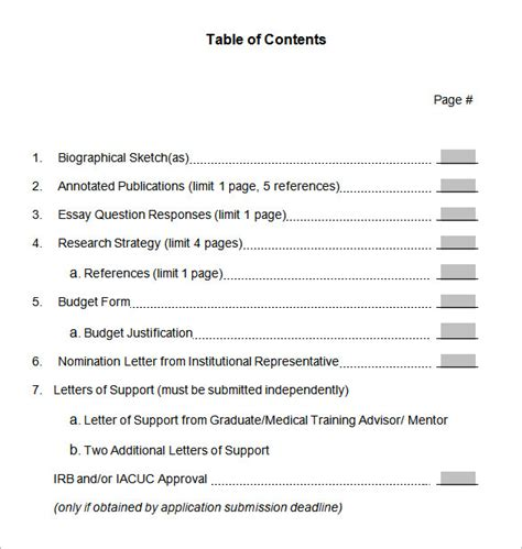 table of contents 22 free word pdf documents download free premium templates