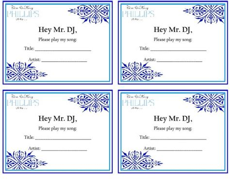 Dj Song Request Template Song Request Weddingbee Photo Gallery