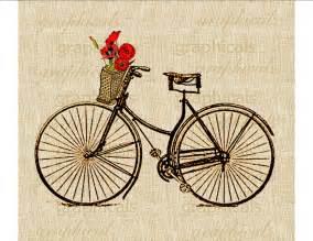 Flower Shop Definition - vintage paris bicycle basket orange poppies instant clip art