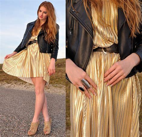 Rosekasm Dress lara roskam h m gold dress chagne gold lookbook