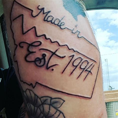 est 1994 tattoo forever montana tattoos in the shape of the treasure