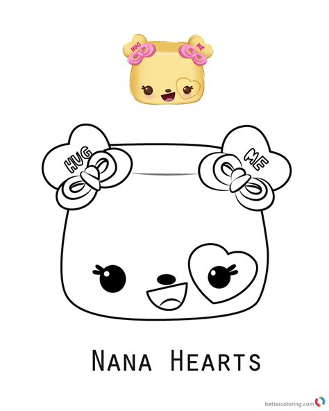 Coloring Page Num Noms by Num Noms Coloring Sheet Series 3 Nana Hearts Free