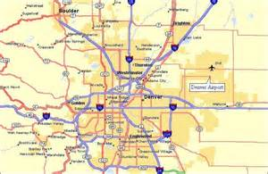 denver colorado maps denver airport area map