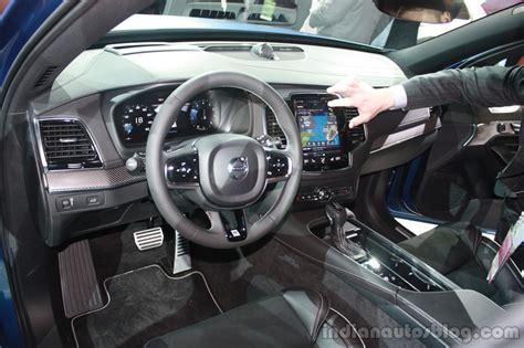 r design xc90 interior 2015 volvo xc90 r design interior at the 2015 detroit auto