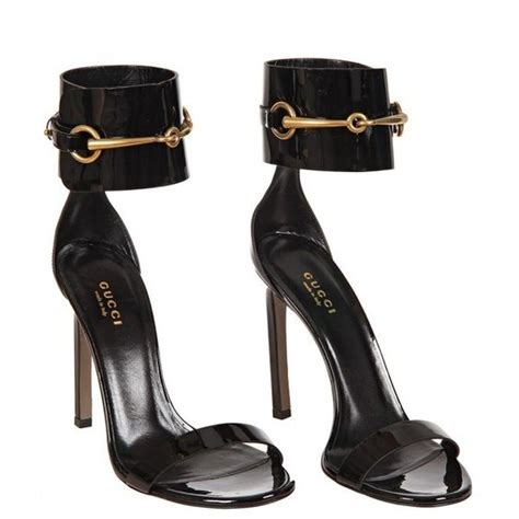 gucci high heel shoes gucci black patent leather ankle sandals 490