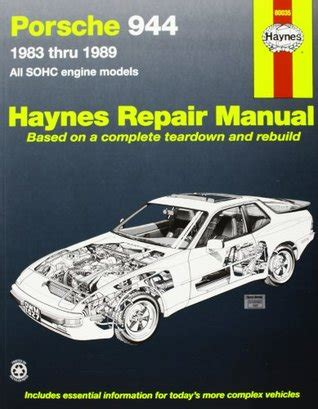 porsche 944 automotive repair manual 1983 thru 1989 all models including turbo by chilton