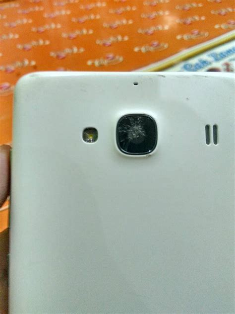 kaca kamera hp android xiaomi redmi  pecah tukang utak atik