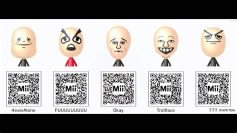 Meme Qr Code - nintendo 3ds mii qr codes pack 3 memes and more youtube
