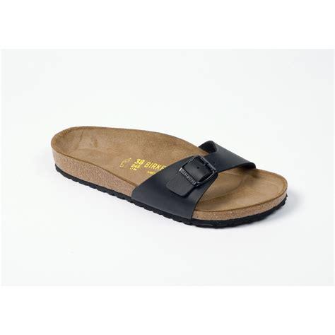 birkenstock sandals uk birkenstock madrid black leather sandals