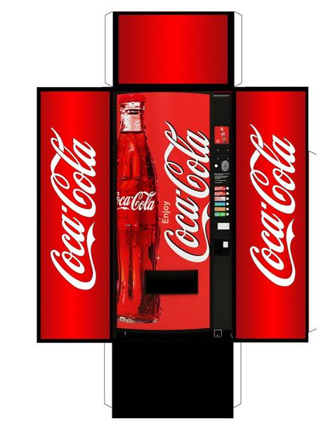 Coca Cola Vending Machine Also See Http Www Creativecloseup Com Download Retro Vintage Coke A Coke Template