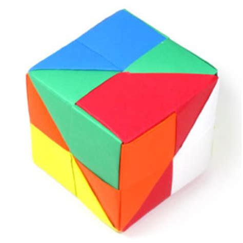 Make An Origami Cube - how to make a traditional origami cube page 1