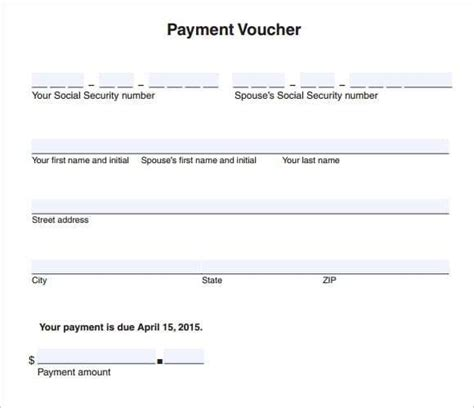 5 sample of payment voucher for salary sales slip template