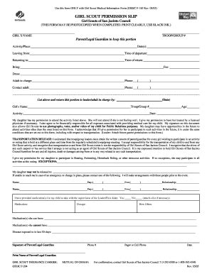 permission slip template forms fillable printable