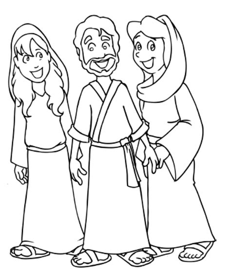 coloring pages jesus and martha and martha and jesus on