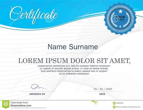 15 professional certificate of achievement templates