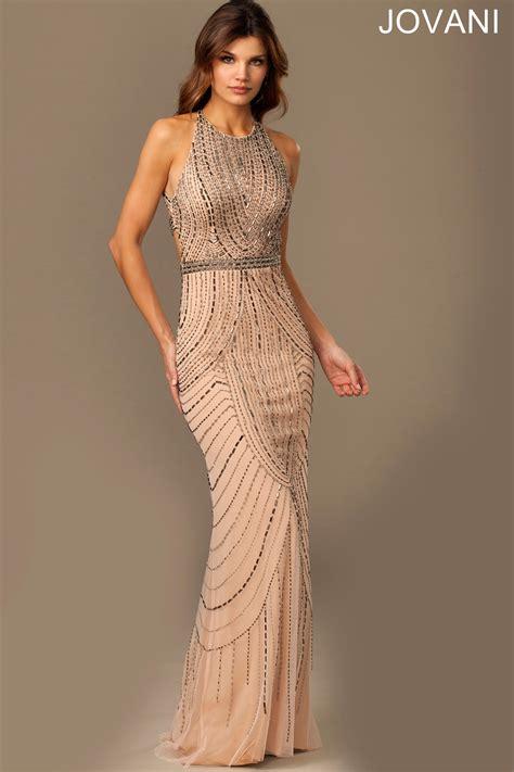 dress design necklines jovani 889149 evening dress halter neckline