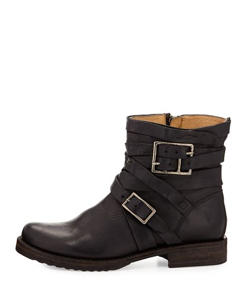 engineer boots frye strappy engineer boot in black lyst