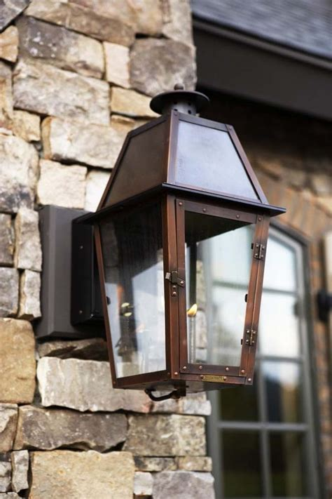 New Orleans Gas Lights with Victorian Exterior and