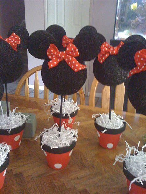 minnie mouse centerpieces birthday ideas