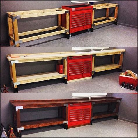 garage bench and storage 10 best ideas about garage workbench on pinterest
