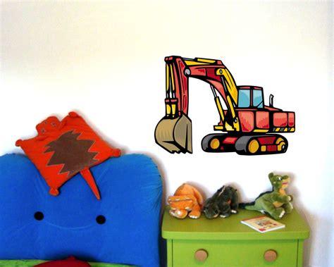 kinderzimmer deko bagger wandtattoo gro 223 er bagger als babyzimmer deko kiddikiste