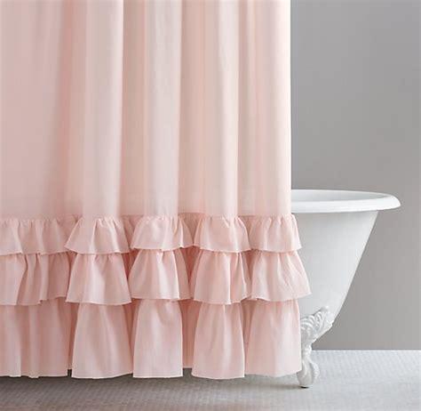 Baby Bathroom Shower Curtains Frayed Ruffle Shower Curtain