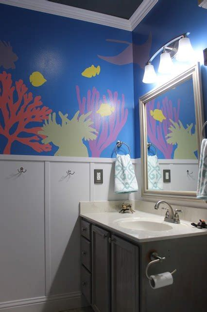under the sea bathroom hometalk diy under the sea themed kid s bathroom