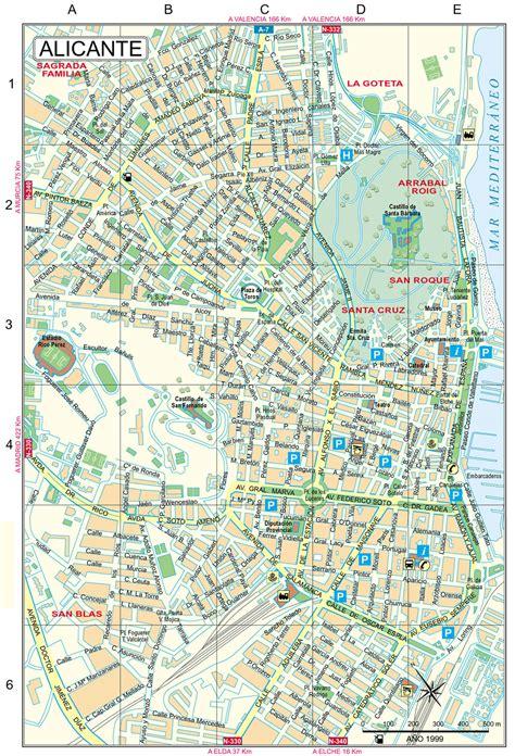 printable street map benidorm alicante tourist map top tourist attractions in alicante