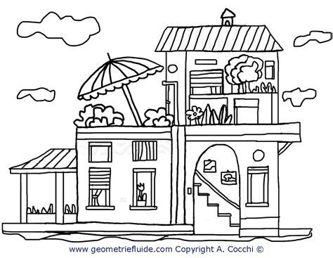 disegni casa casa a due piani da colorare casa da colorare