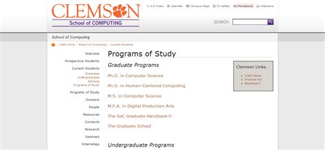 Clemson Mba Rankings by Computer Information Technology Degree Business It Autos