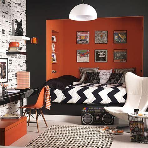 orange and black bedroom ideas teenager s orange and black den teenage boy s bedroom