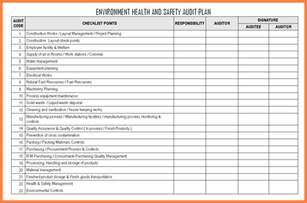 environmental health and safety plan template 11 audit plan format bussines 2017