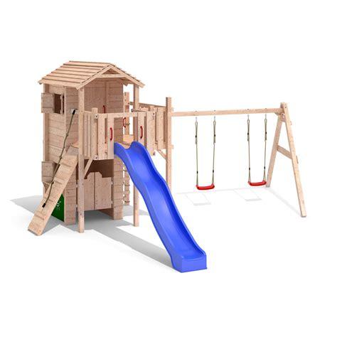 Medi Swing by Calmerio Medi Play Tower Climbing Frame Slide Swings