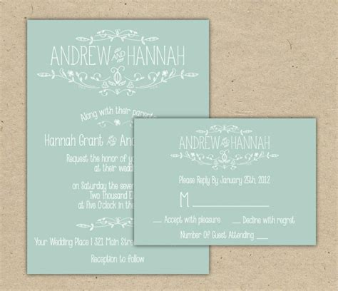 printable wedding invitations country modern country chic wedding invitation and rsvp printable