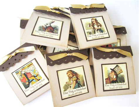 Alice In Wonderland Party Giveaways - personalized alice in wonderland teabag party favors 183 adorebynat 183 online store