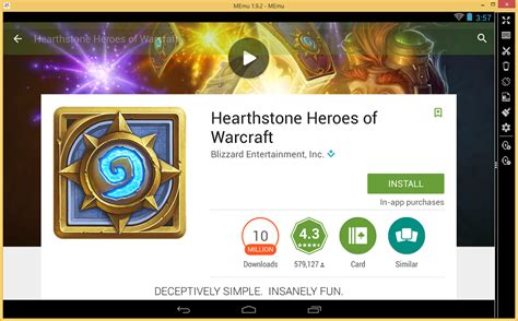 heartstone apk mobile app hearthstone with accounts by memu android emulator