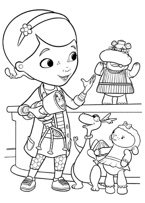 doc mcstuffins coloring page doc mcstuffins coloring pages to and print for free