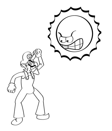 the gallery for gt waluigi coloring pages