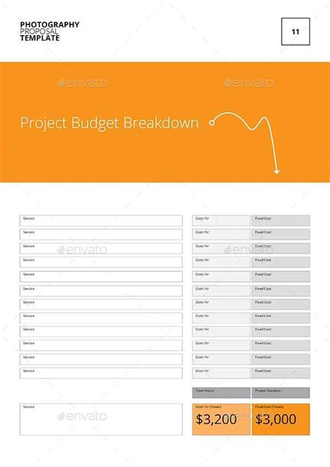 Photography Proposal Template By Keboto Graphicriver Photography Rfp Template