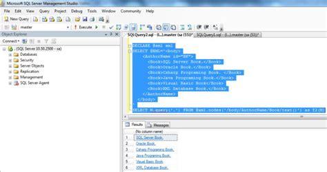 exist tutorial xml database some important xml data type methods in sql server 2012