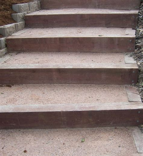 Landscape Timbers Slope 1000 Ideas About Landscape Steps On Outdoor