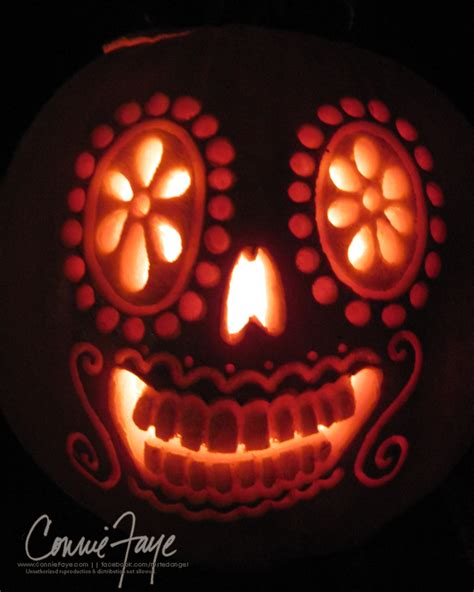 dia de los muertos pumpkin by conniefaye on deviantart