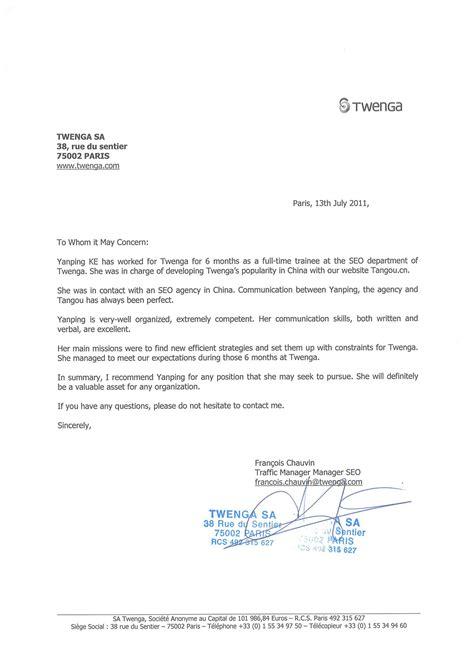 Courrier Demande Lettre De Recommandation Lettre De Recommandation Professionnelle Quelle Est Utilit 233