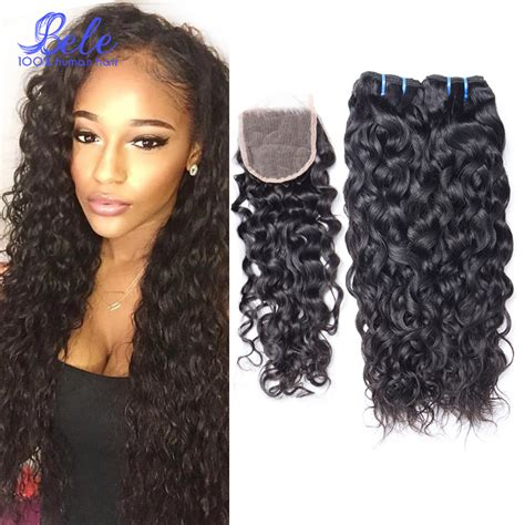 brazilian water wave virgin hair with closure wet and wavy hair 3 water wave brazilian virgin hair with closure brazilian