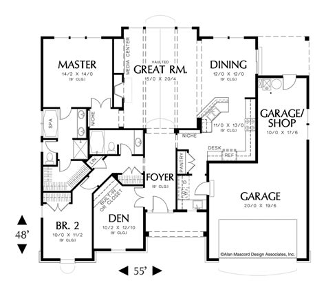alan mascord floor plans mascord house plan 1149 den den craftsman ranch and
