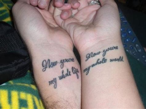 Quotes Tattoo For Couples   Quotes